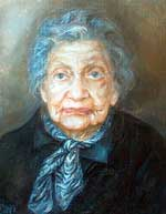 Portrait of Anastasia Zubalashvili by Geladze Nino